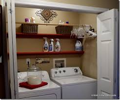 a walk in the countryside laundry closet