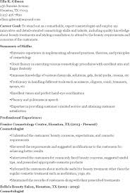 cosmetologist resume sample fresh graduate resume sample with