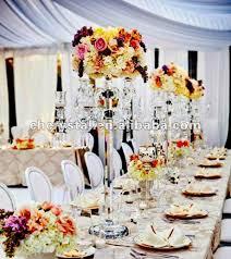 5 arms clear crystal candelabra wedding centerpieces wedding