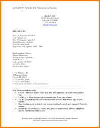 Html List Template 9 Sample List Of References Retail Resumes
