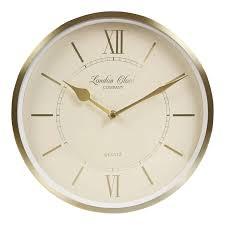themed clock london clock company heritage wall clock dia 25cm chagne gold