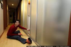 How To Build A Sliding Closet Door Photo Diy Project Downstairs Translucent Glass Sliding