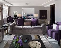 purple livingroom house tours be inspired by the season colours and appealing