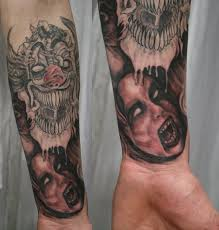 horror arm sleeve 1 tat by 2face tattoo on deviantart