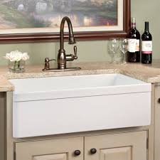 Best Kitchen Faucet Brands White Square Sink With Vintage Choper Faucet Of Farmhouse Cottage