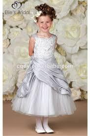 2015 silver princess flower dress tutu lace dresses for girls