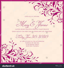 marriage card wedding card invitation abstract floral background stock vector