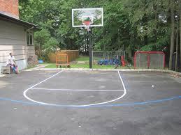 uncategorized amazing backyard basketball court ideas home