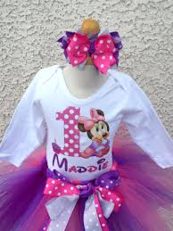 1st birthday tutu personalized pink purple minnie girl mouse 1st 2nd 3rd 4th