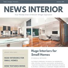 Home Design Furniture Company Free Online Newsletter Maker Design A Custom Newsletter Canva