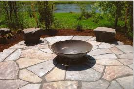 decor u0026 tips attractive flagstone pavers with bowl firepit and