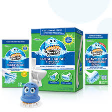 Heavy Duty Bathroom Cleaner The Scrubbing Bubbles Fresh Brush Starter Kit U0026 Caddy