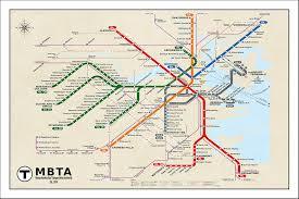 map of boston subway boston subway map poster my