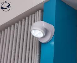 security 9 led motion sensor night light 360 degree rotation wall