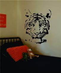 tiger face decal sticker wall vinyl art animal wall decor