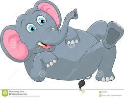 funny elephant cartoon stock vector image 68889671