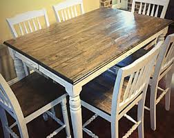 Butcher Block Table Etsy - Butcher block kitchen tables and chairs