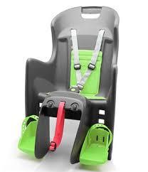 siege velo polisport siège enfant ar boodie polisport gris vert fixation porte bagage