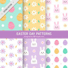 fantastic easter background with eggs and rabbits in watercolor