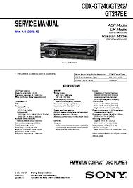 sony cdx gt240 cdx gt24w cdx gt290 cdx gt290s service manual