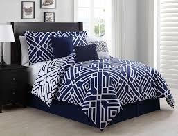 Blue Full Comforter Contemporary Bedroom Design With Blue Navy White Full Comforter