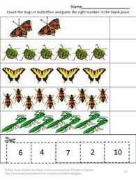 bugs and butterflies cut and paste worksheets nice for spring or