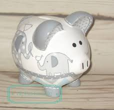 personalized baby piggy banks alphadorable custom piggy bank to match pottery barn s