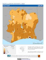 Ghana Africa Map Maps Population Density Grid V1 Sedac
