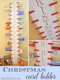 christmas card display holder diy christmas card holder 24 7