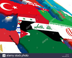 Map Of Isreal Map Of Israel Lebanon Jordan Syria And Iraq Region With