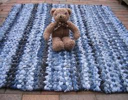 Denim Rag Rugs 39 Best Trapillo Images On Pinterest Tricot Crochet Carpets And