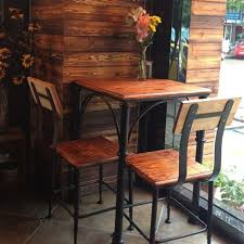 american table and chairs casual tea shop wood wrought iron tables and chairs restaurant