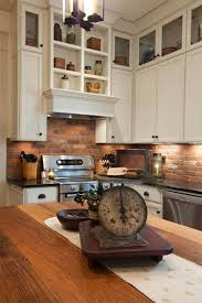 kitchen subway brick backsplash with brick paver kitchen