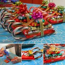 christmas candy gifts wonderful diy christmas candy sleigh
