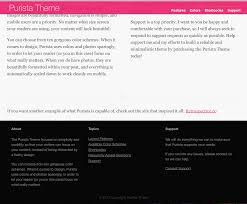 pink color scheme available color schemes u2013 purista theme