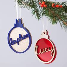 personalised luxury christmas name bauble by clouds and currents