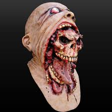 melting face zombie bloody undead horror latex scary insane