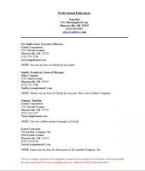 Resume With References Examples resume references page u2013 resume examples
