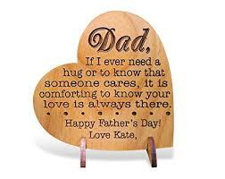 amazon com custom engraved alder wood greeting card for dad