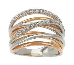 highway wedding band tri color solid 14k gold 1 10cttwdiamond ten band highway ring