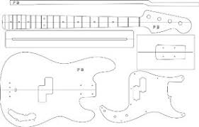 Bass Guitar Templates electric guitar routing template p bass musical