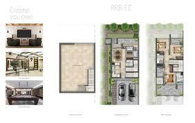 bait al aseel villas akoya oxygen by damac floor plan details