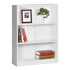 austin 3 shelf bookcase white officeworks