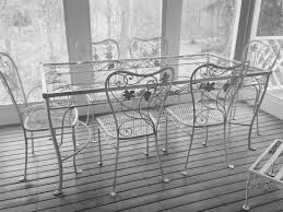 black patio table glass top 1326 best vintage wrought iron patio furniture images on pinterest