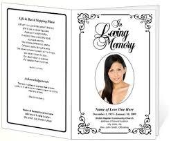 program for funeral memorial funeral bulletins simple printable