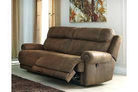 gray leather reclining sofa sa in cortez premium top grain
