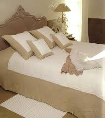 Bed Cover by Provencal Boutis Bed Cover Bedspread Rihanna Beige Provence