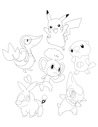pokemon coloring pages of snivy 13 images of pikachu and oshawott coloring pages pokemon black and