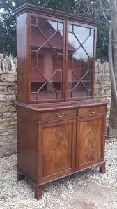 Narrow Mahogany Bookcase by Small Bookcase With Flame Mahogany Doors For Sale At 1stdibs