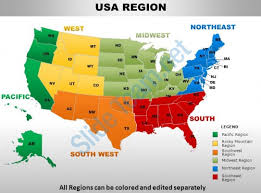 map us south usa south region country powerpoint maps powerpoint slide